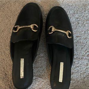 Black Loafer Slides